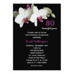 80th Birthday Party Invitation Orchids