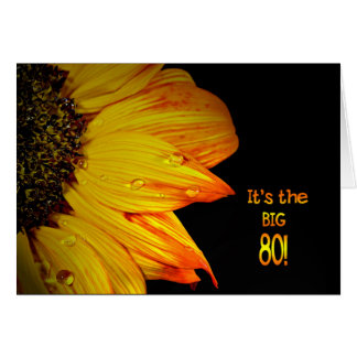 80th Birthday Sunflower Card