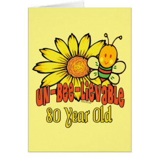 80th Birthday - Unbelievable at 80 Years Old Card