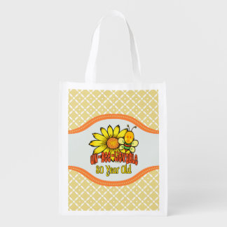 80th Birthday - Unbelievable at 80 Years Old Reusable Grocery Bag