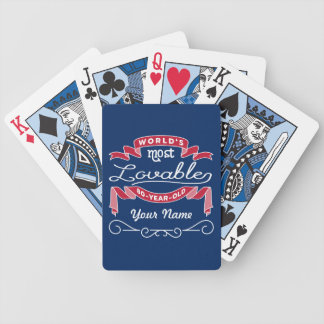 80th Birthday World's Most Lovable 80-Year-Old Bicycle Playing Cards