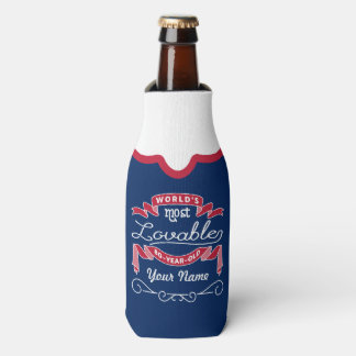 80th Birthday World's Most Lovable 80-Year-Old Bottle Cooler