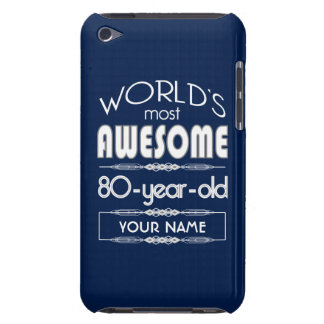 80th Birthday Worlds Best Fabulous Dark Blue iPod Touch Covers
