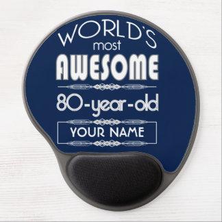 80th Birthday Worlds Best Fabulous Dark Blue Gel Mousepad