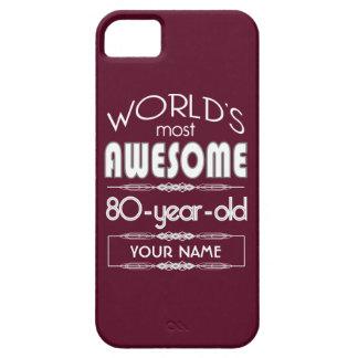 80th Birthday Worlds Best Fabulous Dark Red iPhone 5 Cases
