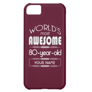 80th Birthday Worlds Best Fabulous Dark Red iPhone 5C Cases