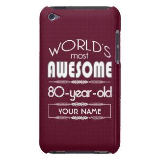 80th Birthday Worlds Best Fabulous Dark Red iPod Case-Mate Case