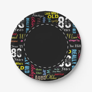 80th Happy Birthday | Milestone Paper Plate