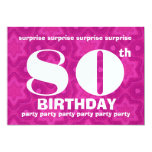 "80th SURPRISE Birthday Big Bold and Geometric 5"" X 7"" Invitation Card"