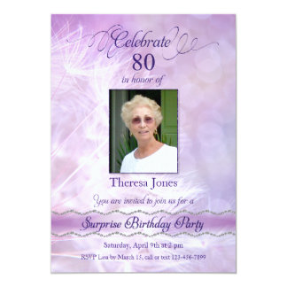 80th Surprise Birthday Party Invitations