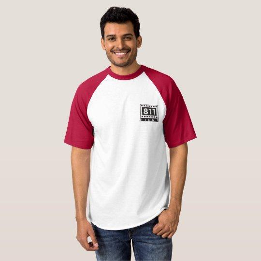 811 Films DISTRESSED LOGO baseball t-shirt