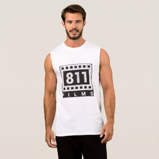 811 Films DISTRESSED LOGO muscle shirt