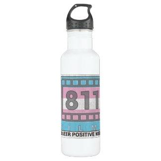 811 Films Trans DISTRESSED LOGO 24oz. water bottle