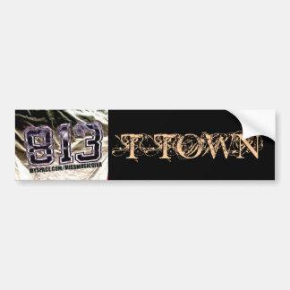 813 T-TOWN Bumper Sticker