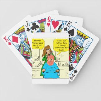 818 great hair cartoon poker deck