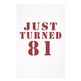 81 Just Turned Birthday Stationery