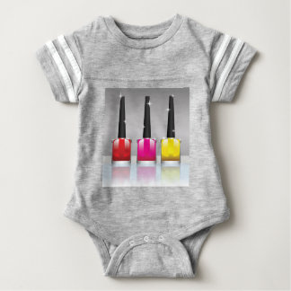 81Nail Polish Bottle_rasterized Baby Bodysuit