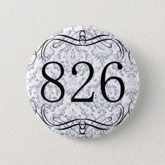 826 Area Code 2 Inch Round Button