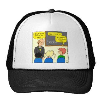 829 mom's a pretty good cook cartoon trucker hat