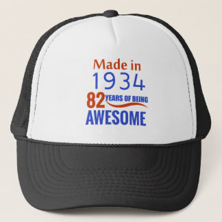 82 birthday design trucker hat