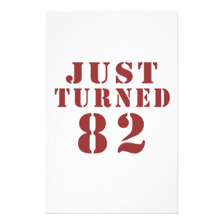 82 Just Turned Birthday Stationery