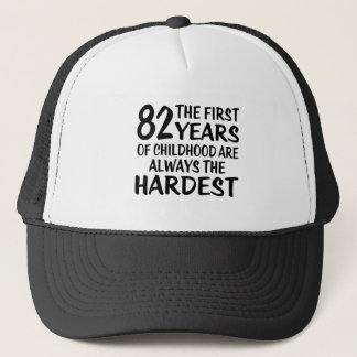 82 The First  Years Birthday Designs Trucker Hat