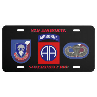82D AIRBORNE SUSTAINMENT BDE LICENSE PLATE