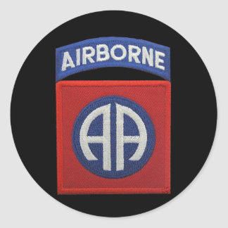 82nd ABN airborne Div Veterans Vets LRRP Classic Round Sticker