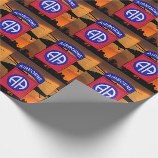 82nd abn airborne veterans vets patch wrapping paper