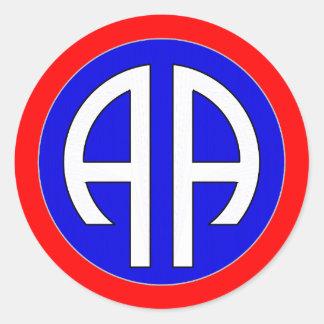 82nd AIRBORNE- ARMY Classic Round Sticker