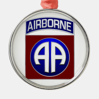 82nd Airborne Division All American Combat Patch Metal Ornament