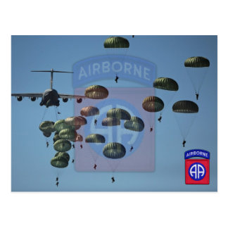 82nd airborne division nam patch postcard