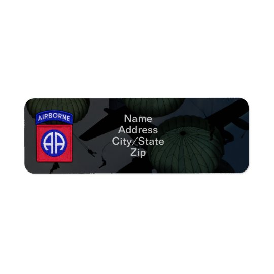 82nd airborne division nam war patch return address label