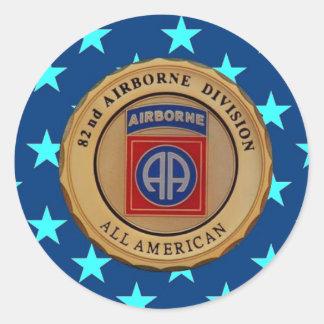 """82ND AIRBORNE DIVISION """"USARMYFANMERCH""""  """"U.S. Arm Round Sticker"""