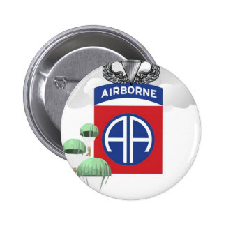 82nd Airborne, Paratroopers, Senior Jump Wings Pinback Button