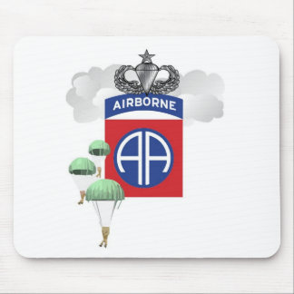 82nd Airborne, Paratroopers, Senior Jump Wings Mouse Pad