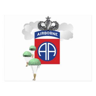 82nd Airborne, Paratroopers, Senior Jump Wings Postcard