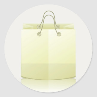 82Paper Shopping Bag_rasterized Classic Round Sticker