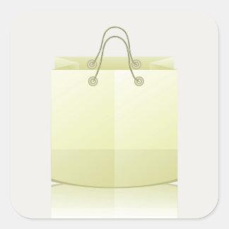 82Paper Shopping Bag_rasterized Square Sticker