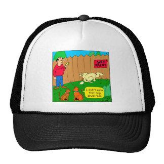 830 dog can read cartoon trucker hat
