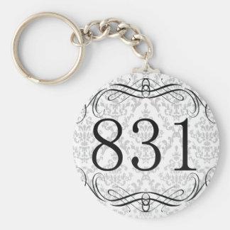 831 Area Code Keychain