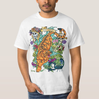 83-TIGER Tattoo Flash T-shirt - White Only