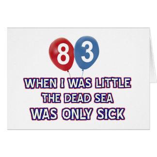 83 year old dead sea birthday designs card