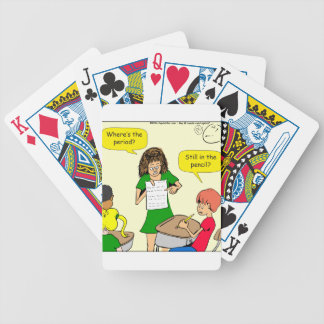 843 still in the pencil cartoon bicycle playing cards
