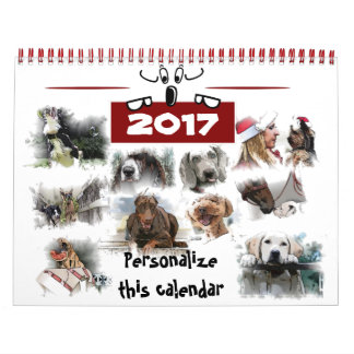 84 Illustrations of dogs Wall Calendar