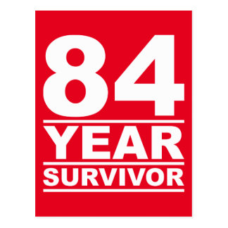 84 year survivor postcard