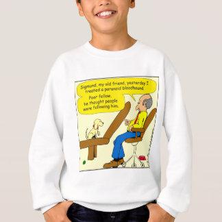856 paranoid bloodhound cartoon sweatshirt