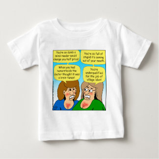 858 angry sisters arguing cartoon baby T-Shirt