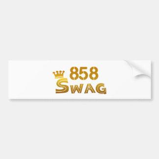 858 California Swag Bumper Sticker