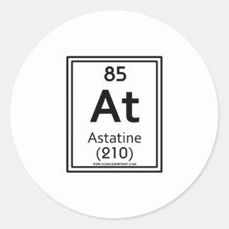 85 Astatine Classic Round Sticker